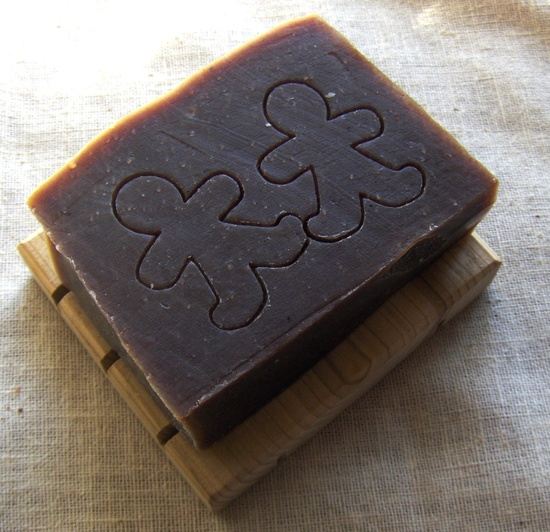 Gingerbread Men Soap - This is a mild vegan handmade hand stamped soap