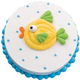 Undersea adventure cake from wilton.com.  Could be a nice and easy cake to make for the big people for Lucky's 1st birthday.