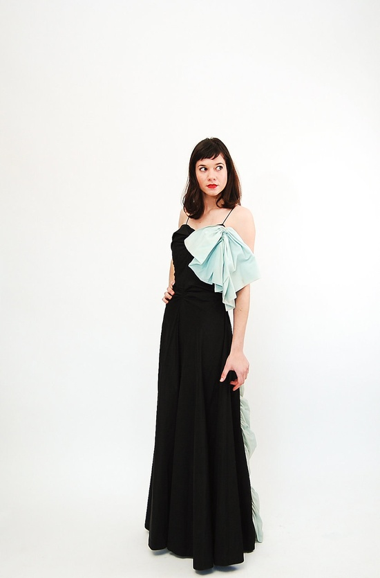 Vintage 1950s Evening Gown  50s Prom Dress  by concettascloset, $80.00