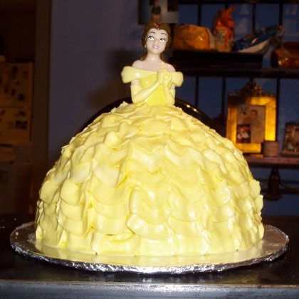 A Belle cake you can make for the next princess party! spoonful.com/...