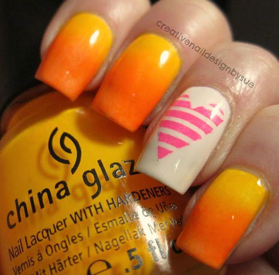 Creative Nail Design by Sue: The Nail Challenge Collaborative-Neon Gradient