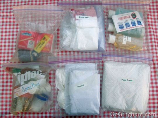 Organization tips and a list of needed cooking supplies for camping.