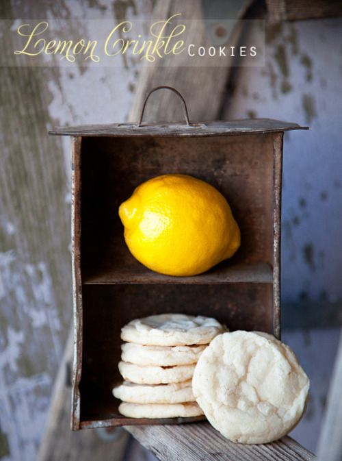 Lemon Crinkle Cookies ~