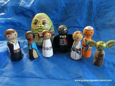 Star Wars Peg Dolls - DIY Toys from the Craft Room