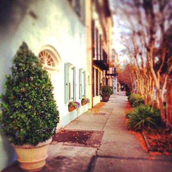 Rainbow Row in historic Charleston, South Carolina.