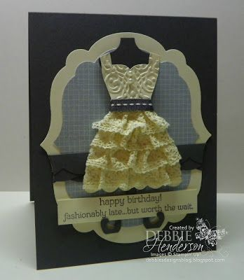 Stampin' Up! Birthday  by Debbie Henderson at Debbie's Designs: All Dressed Up!