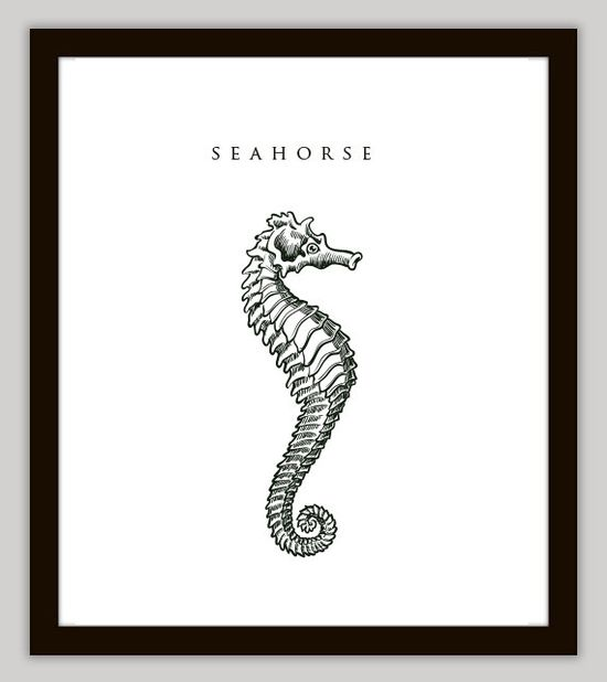 #Seahorse #Nautical Home Decor Wall Art by PrintsofBeauty on @Etsy, DISCOUNT SALE: $7.00