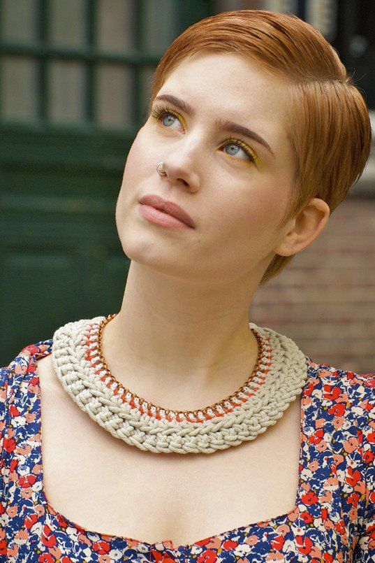 Crocheted Necklace. via Etsy.