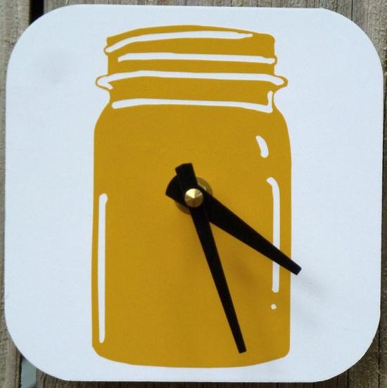 Small Mason Jar Clock. $28.00, via Etsy.