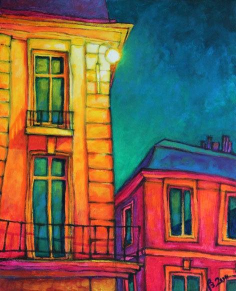 Maison Parisienne Original acrylic painting print art by tubidu. $20.00, via Etsy.
