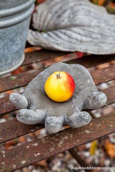 Hand made of concrete
