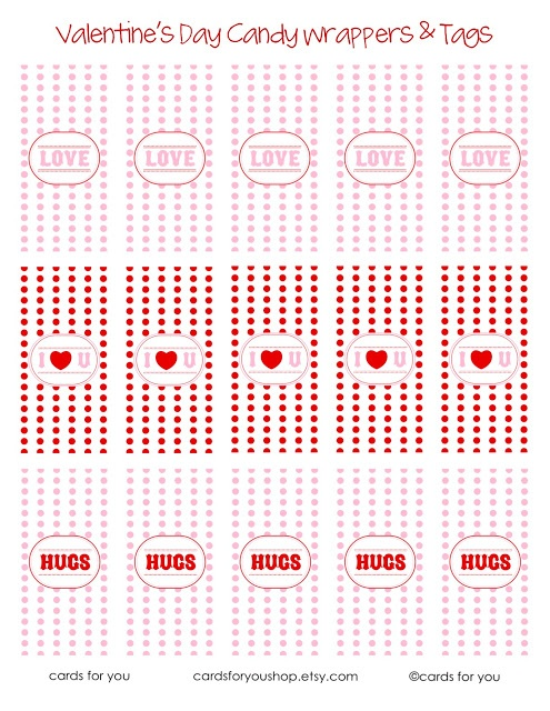 Valentine Candy Wrappers & Tags by A Little Lovely