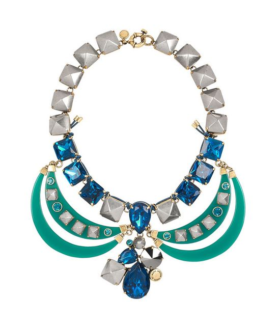 Marc by Marc Jacobs Claude Resin and Glass Collar Necklace