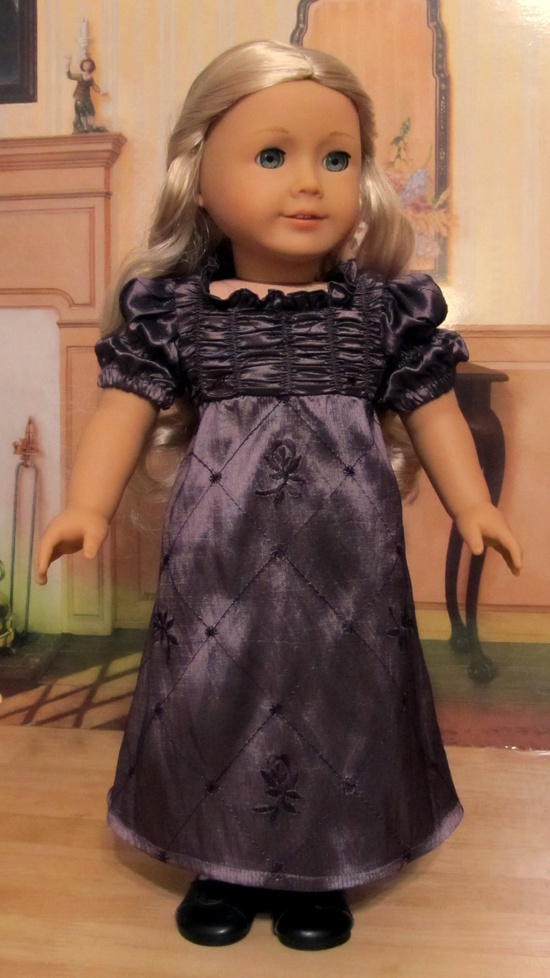 "$124.49 1812  Regency Holiday Gown, Made to Fit 18"" American Girl Doll Caroline, An Original Keepers Design"