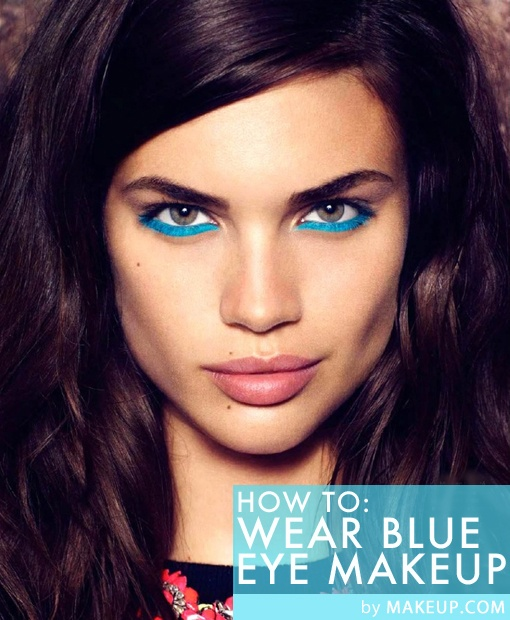 How to Wear Blue Eye Makeup / The scoop on how to rock one of #spring's boldest trends.