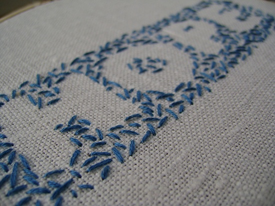 Hope embroidery.