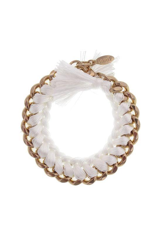 White Woven Bracelet