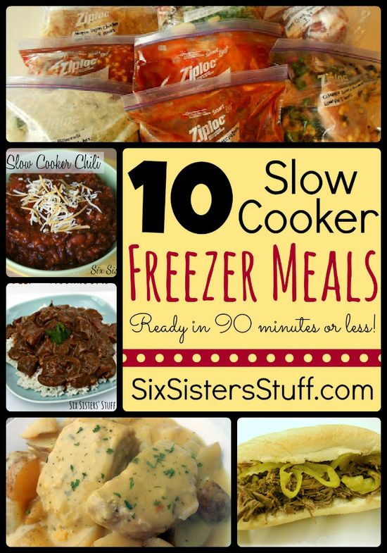 Six Sisters' Stuff: 10 Slow Cooker Freezer Meals in Less Than 90 Minutes! @Rachel R Nielson - They have two posts like this.  We should try doing all of these together soon!