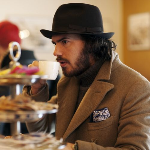 On the Street and In The Cafe, Milan « The Sartorialist jacket hat beard fashion men tumblr Style streetstyle hair