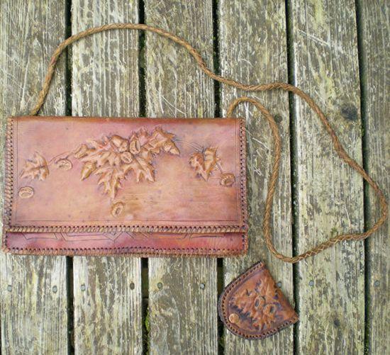 Vintage leather purse.