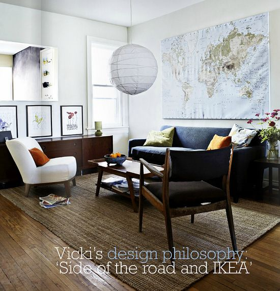Gorgeous - Covet Garden / Tracy Shumate {eclectic mid-century rustic vintage living room} by recent settlers, via Flickr