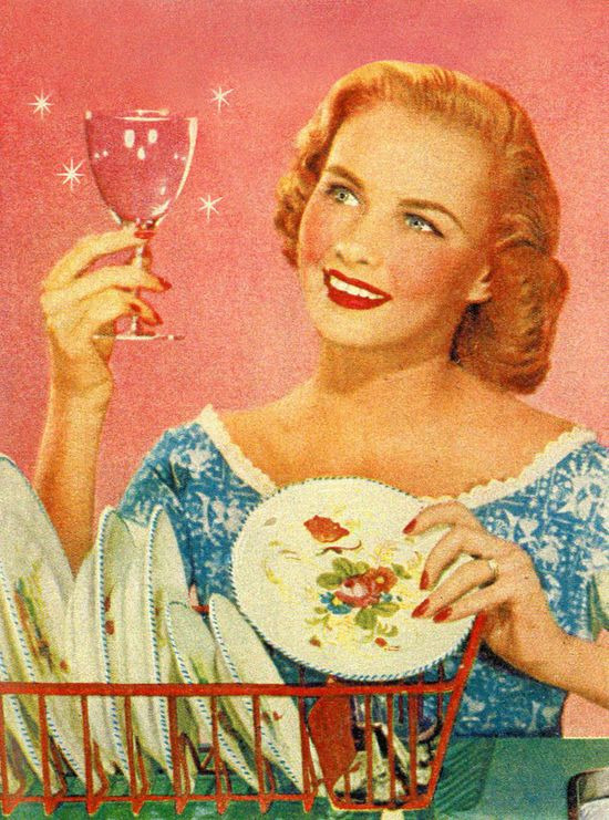 Now that's a sparkling finish! :) #vintage #homemaker #1950s