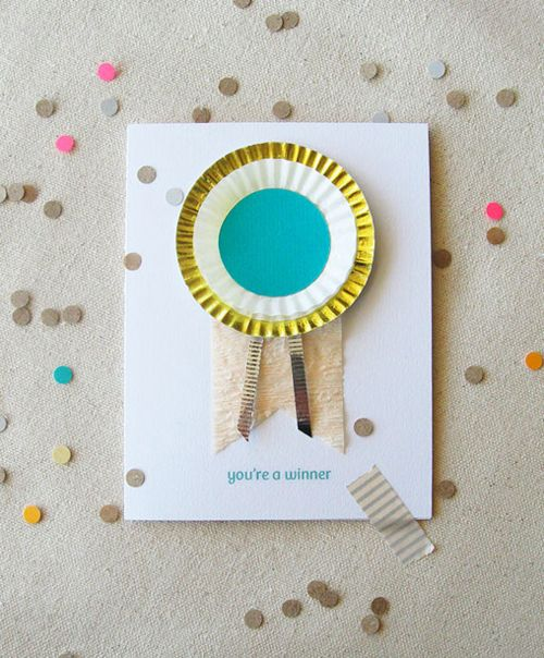 handmade card with cupcake papers