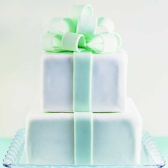 A fondant bow is a perfect topper for a birthday cake. Find out how to make this creative cake here: www.bhg.com/...