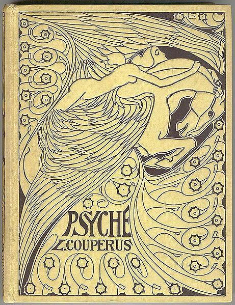 his is a binding of the book by Louis Couperus Psyche, designed by Jan Toorop (d. 1928)