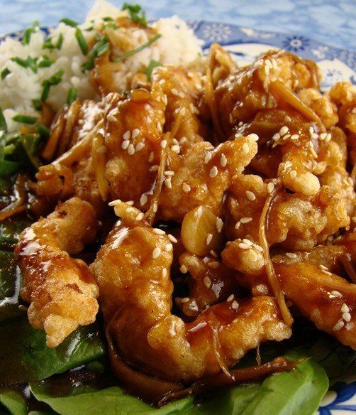Crispy Garlic Ginger Chicken. I have made this often! Delicious!!