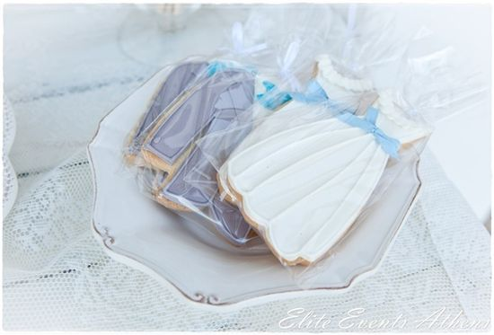 Gorgeous cookies at a Shabby Chic Wedding.  See more party ideas at CatchMyParty.com.  #tweddingideas