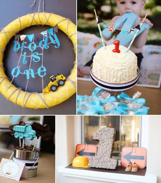 Modern Construction themed birthday party via Kara's Party Ideas karaspartyideas.com #boy #construction #themed #party #ideas #boy #modern