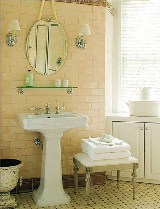 new vintage traditional retro bathroom - erik johnson
