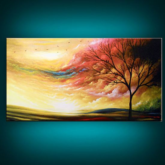 ORIGINAL modern abstract large cloud painting giclee by mattsart, $325.00