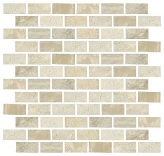 Taishan Ivory Mosaic - contemporary - kitchen tile - The Tile Shop