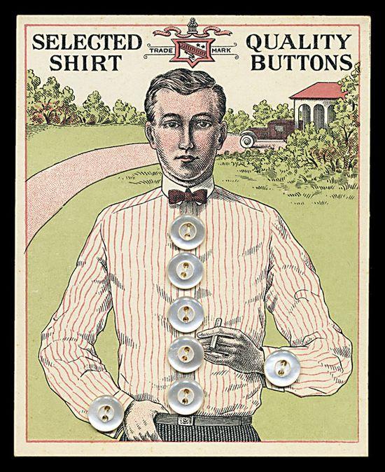 Shirt buttons card