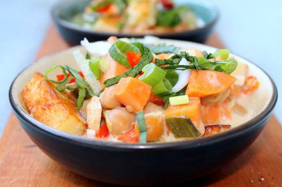 Whole Nourishment: Coconut-Lime Sweet Potato and Chickpea Stew