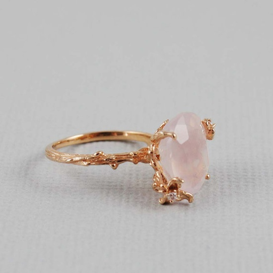 Pink and gold ring