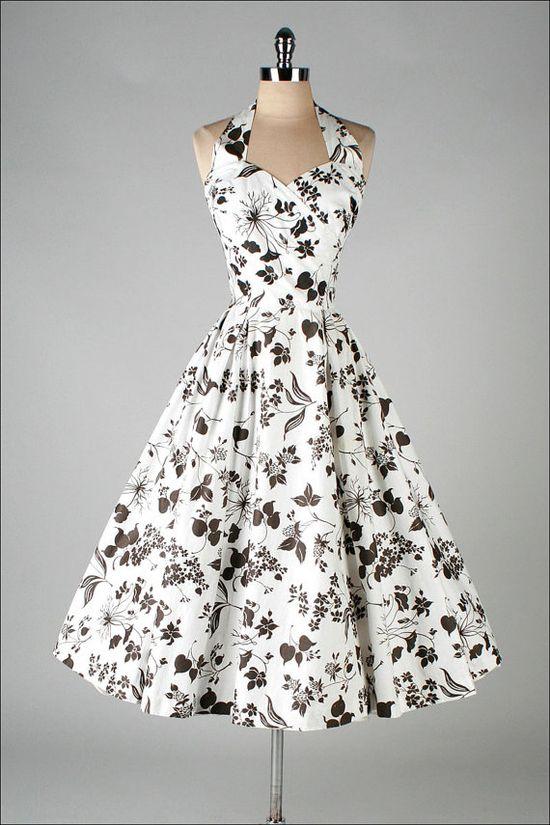 JERRY Gilden #fashion #floral #dress #1950s #partydress #vintage #frock #retro #sundress #floralprint #petticoat #romantic #feminine
