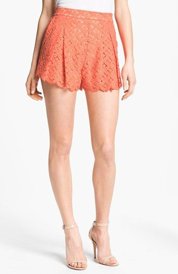 Vince Camuto Pleated Lace Shorts