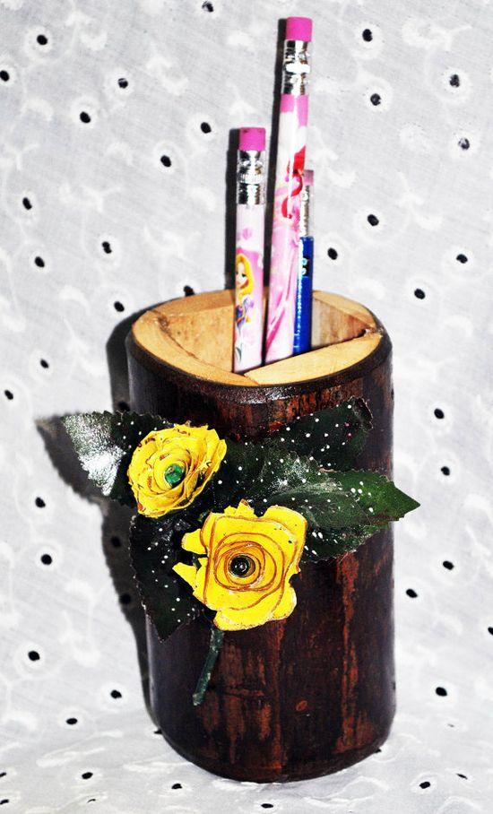 Maple Wood Pen/Pencil HolderHandmade Wood by GinasCornerCrafts, $25.00
