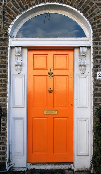 orange door.  LOVE it