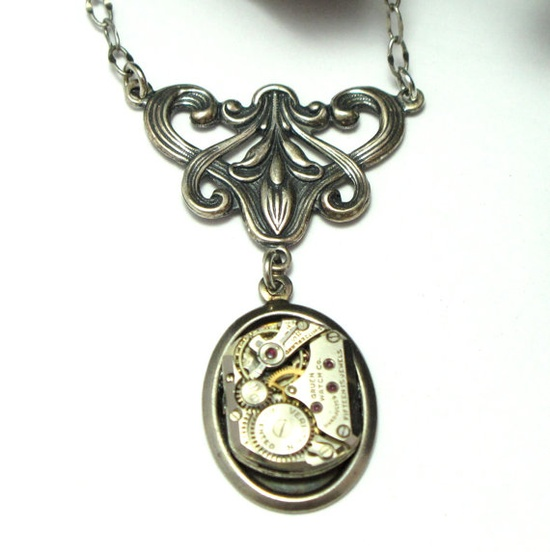 Necklace by Mystic Pieces #steampunk #jewelry #mysticpieces #etsy