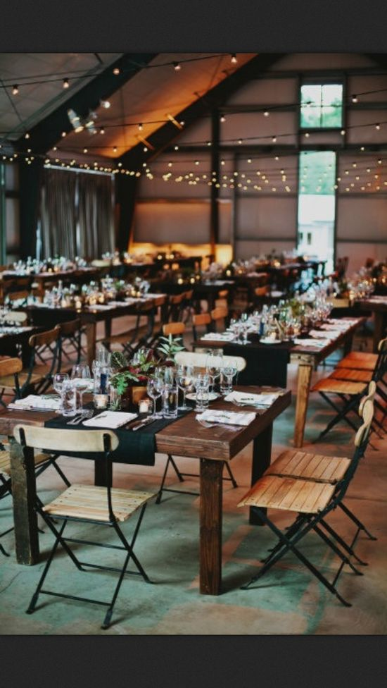 Beautiful and simple wedding reception