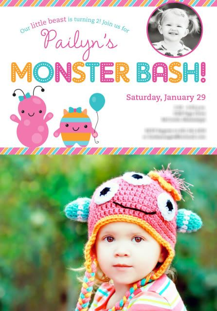Girly monster bash birthday party!