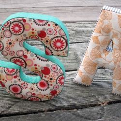 Craft a cheap & easy personalized letter. Cozy & cute. No sew!