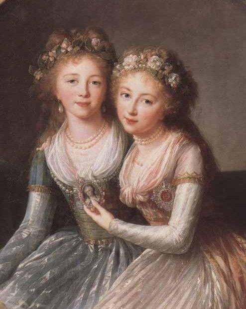 Alexandra and Elena Pavlovna, by Elisabeth Vigée Le Brun, ca. 1795-1797