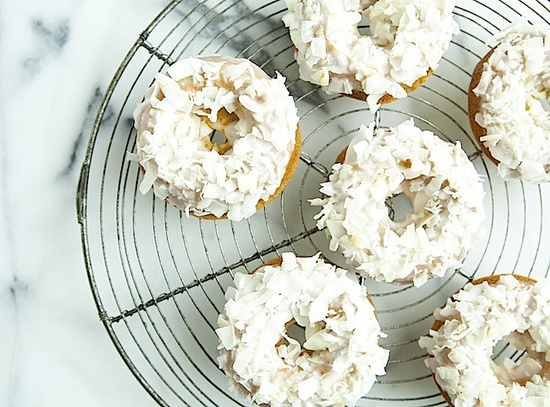 Coconut Donuts.  Easy to make, and delicious to eat baked coconut lime donuts.  #recipe #donuts #doughnuts