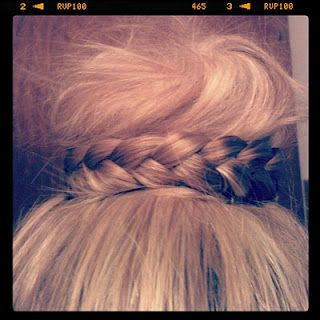 braid around the bun!