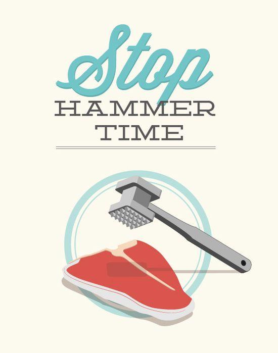 Stop Hammer Time11x14 Poster art kitchen decor print by noodlehug, $25.00